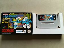 The Smurfs SNES Super Nintendo - cleaned and tested