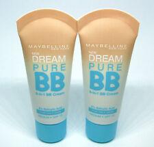 2 x MAYBELLINE DREAM PURE BB 8-in-1 BB Cream MEDIUM