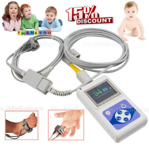 Infant/Neontal Spo2 Blood Oxygen Monitor OLED Pulse Rate Monitor, PC Software