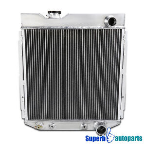 For 1964-1966 Aluminum Cooling Radiator Ford Mustang Shelby V8 3 Core MT