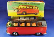 Tôle/Tin car: Bandai VW volkswagen t1, Samba, 1960 S, Friktion, neuf dans sa boîte/box