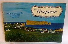 BROCHURE TOURISTIQUE * La Gaspésie ** circa 1960 tourisme vintage book rétro old