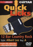 LICK LIBRARY Learn to Play QUICK LICKS  ALBERT LEE Country Rock Tutor GUITAR DVD