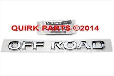 "2005-2013 Nissan Xterra + MORE Chrome ""OFF ROAD"" Emblem Decal Nameplate OEM NEW"