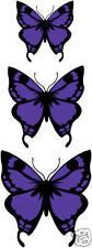 3 x Purple Butterfly Vinyl Stickers,Cars,Window,Graphic