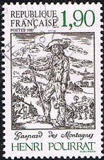 1 FRANCOBOLLO FRANCIA HENRI POURRAT SCRITTORE 1987 usato