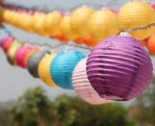 Multi-Colour Chinese Paper Lantern BATTERY LED Fairy Lights 20 Mini Lanterns