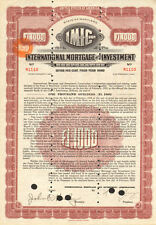 International Mortgage and Investment > Amsterdam Holland bond certificate stock