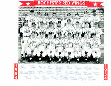 1954 ROCHESTER RED WINGS TEAM 8X10  PHOTO VIRDON CLARK  BASEBALL NEW YORK