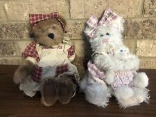 Boyd's Bears Plush Sweetie Pie Bear & 2 Cats Momma McFuzz and Missy (Lot of 3)
