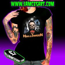 Halloween Michael Myers Women's DTG Tee 100% Cotton movie Horror iamcesart