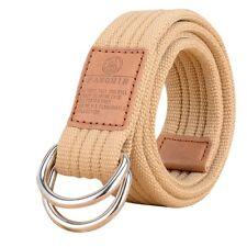 Men Women Unisex Canvas Web Belts Military Buckle Tactical Waistband Strap Plain