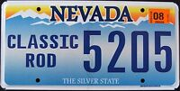 """NEVADA """" CLASSIC ROD - CAR - SILVER STATE """" NV Specialty License Plate"""
