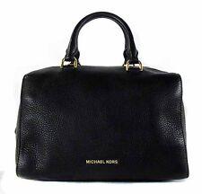 MICHAEL KORS KIRBY Black Leather SM Satchel Shoulder  Bag $298