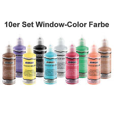Wunschauswahl 10 Stück Window Color Farbe Glasmalfarbe 80ml Auswahl aus 39 Farbe