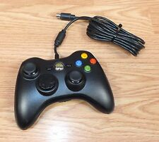 Genuine Microsoft Xbox 360 Black Wired Controller Only (X854237-001) **READ**