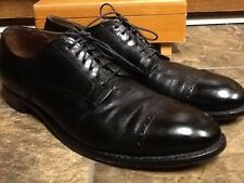 ALDEN MEN'S BLACK LEATHER ITALIAN CAPTOE DRESS OXFORDS SHOES SIZE 11