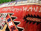 "ANTIQUE  ARMENIAN CAUCASIAN  DATED 1903 RUG   FULL PILE GREAT  COLOR  8 X 3'9"""