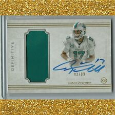 RYAN TANNEHILL Definitive *on card AUTO/Jersey /99 Miami Dolphins Autograph