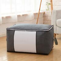 Non-woven Quilt Storage Bags Portable Blanket Clothes Large Duvet Organizer Nett