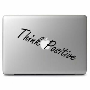 Think Positive VInyl Decal Sticker for Macbook Air Pro Laptop Car Window Decor