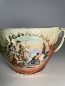 Vintage Mustache Cup Porcelain Signed