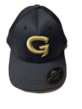 Pacific Headwear Baseball Cap 474F Blue Grey Gold Embroidered Gamers Logo Sz. XS