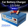 12V/24V 10A Car Battery Charger Jump Starter Motorcycle Intelligent Pulse Repair