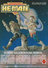 X4335 He Man - Optikk e Tartarus - MATTEL - Pubblicità 1989 - Advertising