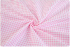 Pink and White Check Gingham Cotton Suitable for Bedding Sheeting Homeware Craft