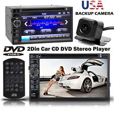 "2Din 6.2"" Stereo Car DVD Player Bluetooth+Backup Camera For Ford F-150/250/350"