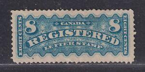 Canada Scott F3 Unused 1876 8¢ Dull Blue Registration Stamp