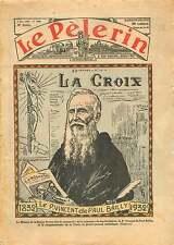 Portrait du père Vincent de Paul Bailly Fondateur de La Croix 1936 ILLUSTRATION