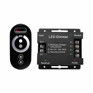LED Funk Touch-Dimmer 12V 24V DC PWM Regler Funkdimmer Dimmer Touchdimmer 18A