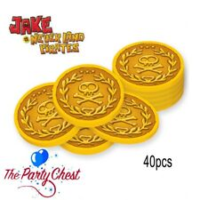 JAKE AND THE NEVERLAND PIRATES 40 GOLD COINS Birthday Party Treasure Favours