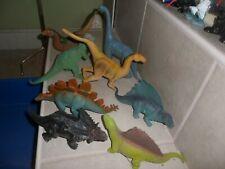 "New listing 8 Vintage Dinosaur Toy Imperial Rubber- Brontosaurus 1985,Dimetrodon + 8-10"""