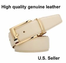 Men's New Automatic Buckle genuine leather alloy Belt Gift Fashion pants  #VB003