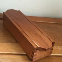Estate Unchartered Waters Wood Turnings Cherry Wood Dove Tail Trinket Box w