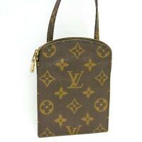 LOUIS VUITTON POCHETTE SECRET Shoulder Pouch Bag Purse Monogram M45484 Brown