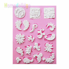 Sculpted Silicone Fondant Lace Sugarpaste Chocolate Mould Cake Decorating Tools