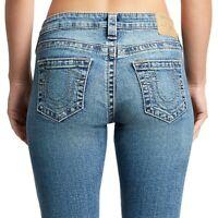 True Religion Women's Halle Super Skinny Stretch Jeans in Glistening Quartz