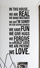 In This House Rules Wall Sticker Wall Art Decor Vinyl Decal 18x40 Lettering