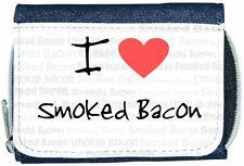 I Love Heart Smoked Bacon Denim Wallet