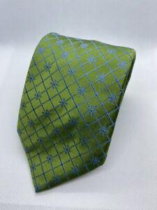 Thomas Pink Green Check 100% Silk Tie