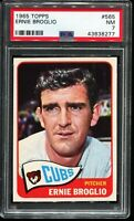 1965 Topps Baseball #565 ERNIE BROGLIO Chicago Cubs Short Print SP PSA 7 NM