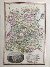 1818 Original & Rare Langley's New Map of Shropshire