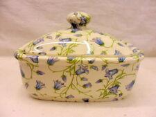 Harebell chintz butterdish by Heron Cross Pottery
