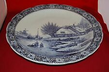 Belgium BOCH Delft Large Platter / Wall Hanging Blue and White