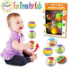 Nouveau 5PC Roll & Spin BULLE BOULES Bain Temps activité Flottant Jouet Fun Toy Box