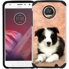 For Motorola Moto Z4 2019 Lovely Dog Cat Puppy Case Slim Hybrid Phone Cover